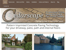 Tablet Preview of cedarscape.co.uk